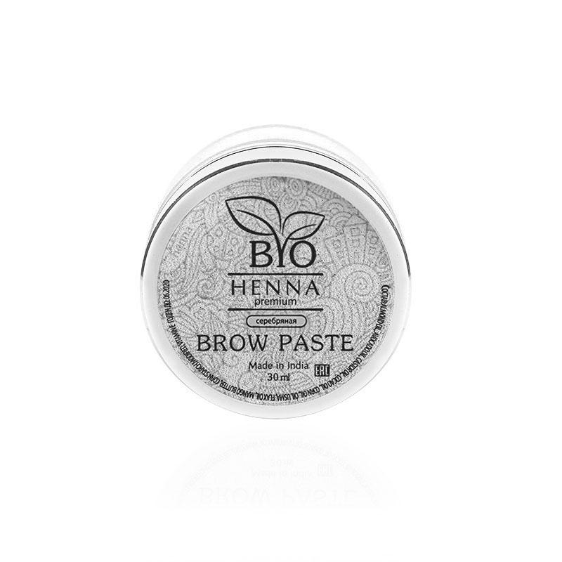 Bio Henna Premium Pasta do brwi 30 ml (srebrna) Henna pudrowa