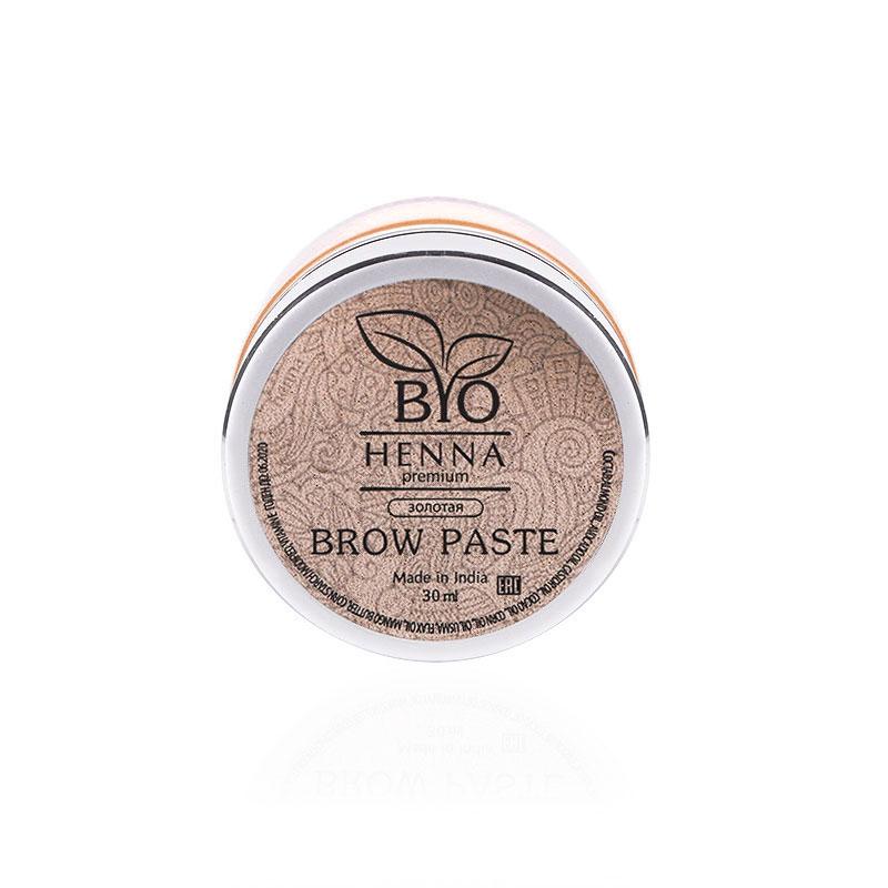 Bio Henna Premium Pasta do brwi 30 ml (złota) Henna pudrowa