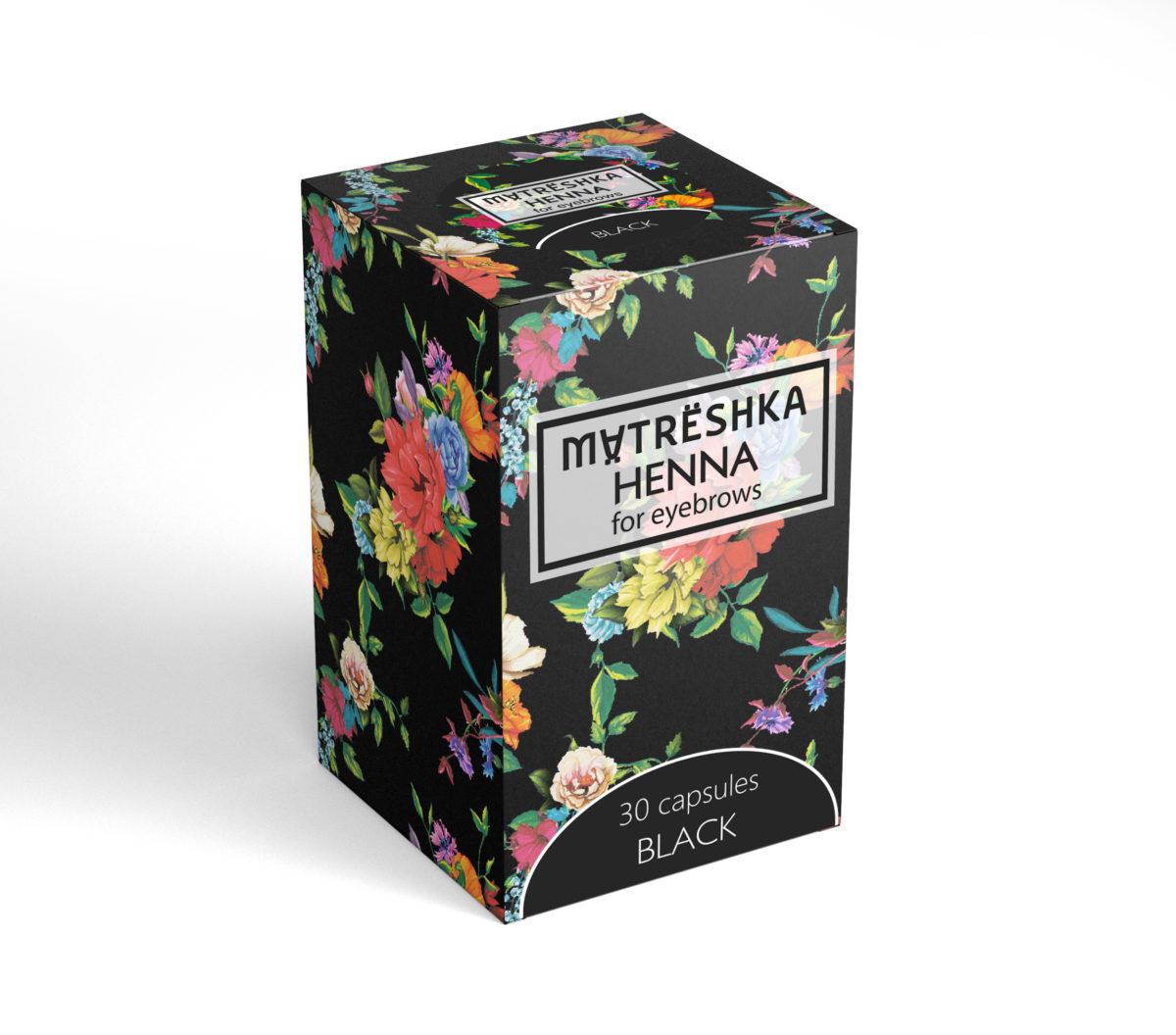 Matreshka Henna BLACK 30 kapsułek Henna pudrowa