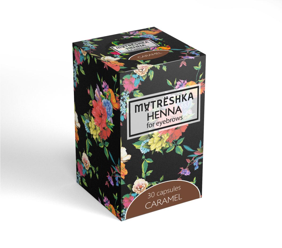 Matreshka Henna CARAMEL 30 kapsułek Henna pudrowa