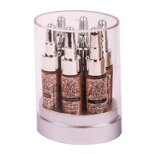 Bio Henna Premium Zestaw 6 buteleczek (6x10g) Oprawa Oka