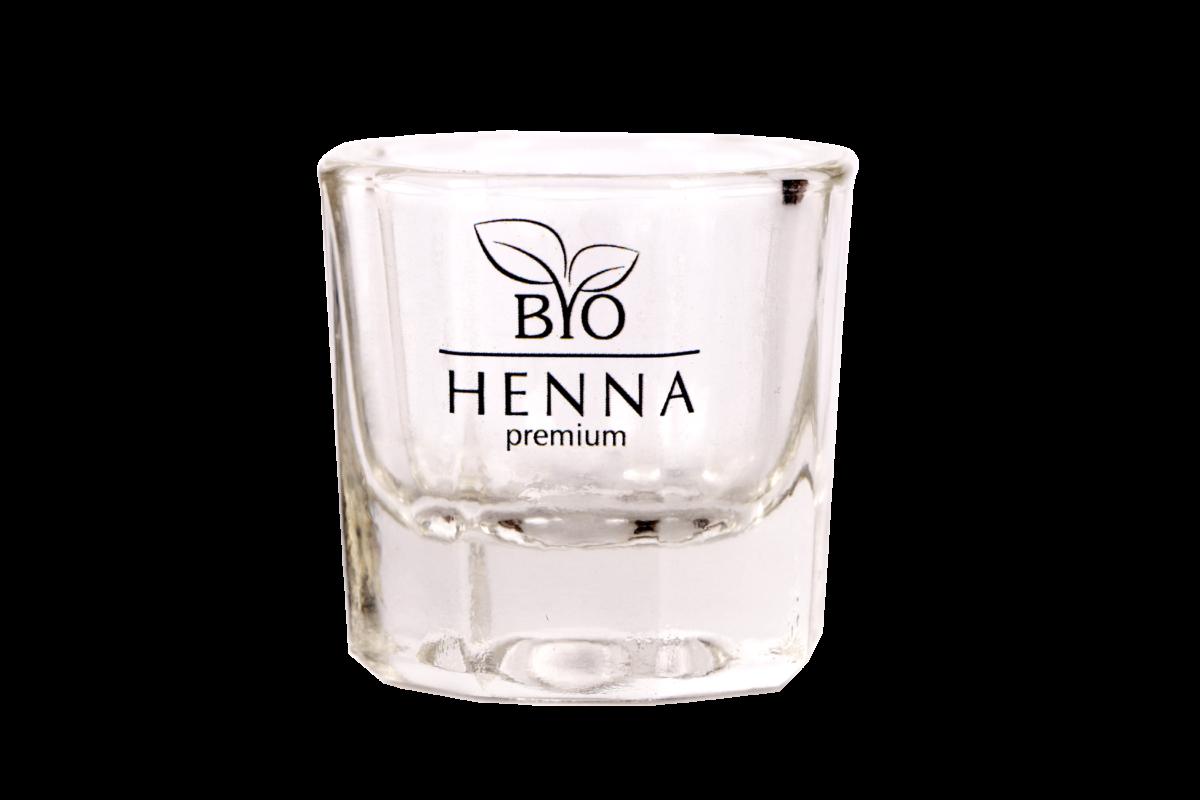 Bio Henna Premium Kieliszek szklany do henny Henna pudrowa
